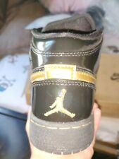 "AIR JORDAN Youth ""1 Retro PL"" Metallic Gold/Black Size 3.5"