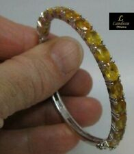 12.2 ct YELLOW SAPPHIRE SILVER BANGLE  ( was $294.95 )