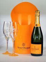 Veuve Clicquot Brut Yellow Label 0,75l + Standard Kühler + 2 Gläser Bundle für 2