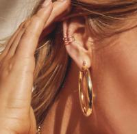 Women Punk Stainless Steel Ear Hoop Circle Earrings Jewelry Gifts Fashion