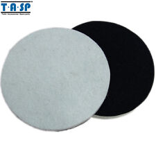 "2Pc 125mm 5"" Wool Polishing Buffing Pad For Glass Metal Multi-Surface Paintwork"