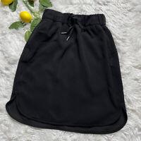 Lululemon Size 2 Black On The Fly Skirt Pockets