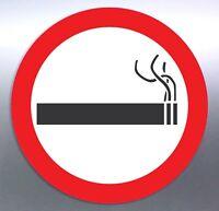 Smoking allowed Vinyl cut Sticker 50 mm round warning regulation smoke outside