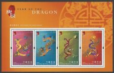 Hong Kong 2000 Year of the Dragon miniature sheet MNH with SPECIMEN overprint