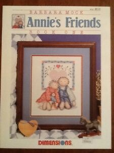Dimensions Cross Stitch Pattern Leaflet by Barbara Mock ANNIE'S FRIENDS Book #1