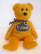 DAYTONA 500: 50 Year Commemorative Ty 'Racing Gold' Bear - Great Condition!