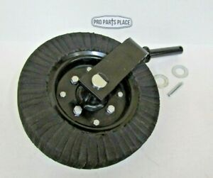 """ROTARY CUTTER TAIL WHEEL ASSEMBLY WITH 1-1/4"""" SHAFT. HEAVY DUTY 1 PIECE FORK"""