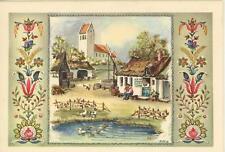 VINTAGE FLOWERS GARDEN FARM HOUSE SWEDISH GLOGG RECIPE PRINT 1 BAKERY CARD
