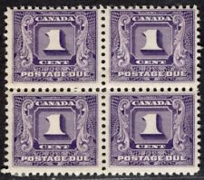 CANADA 1930/2 POSTAGE DUE STAMP Sc. # J 6 MNH/MH BLOCK OF FOUR