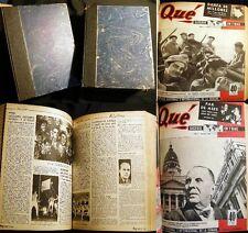 1947 QUE MAGAZINE 8 MONTHS ARGENTINA PERON PERONISTA POLITICS ILLUSTRATED +
