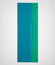 "CAYO GREEN BLUE MANDUKA 2MM EKO SUPERLITE  Yoga TRAVEL MAT 68 X 24"""