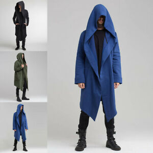 IGJMOD Mens Trench Coat Winter Warm Thicken Jacket Casual Fluffy Slim Pocket Overcoat Windroof Outerwear
