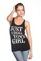 Ladies Tunic Just A Small Town Girl Tank Top Tee Shirt T-Shirt Black Size S-2XL