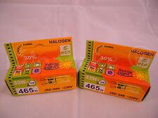 2 Halogen HALOPIN lamp bulb G9 33W ~220V 465 Lm 43W economic ECO GREEN SAVER 30%