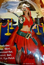 7 PC Pretty Pirate Oversized HAT Adult Costume NEW  7 PC SET GREAT COSTUME