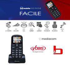 M-Mobile Easy Phone Facile - GSM PER ANZIANI -Fotocamera Tasti grandi Colore BLU