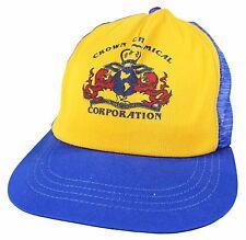 VTG 80s CROWN CHEMICAL CORPORATION Trucker CAP Snapback Mesh HAT Providence RI