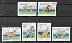 "Six Mint Stamps from Republica Saharaui featuring  ""Big Cats""  -  Uncirculated."