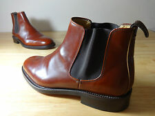 Mens Chelsea boots size 9 John White tan brown leather size 9 mens chelsea boots
