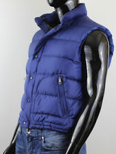 BURBERRY BRIT MEN'S BLUE PUFFER VEST JACKET SIZE XL