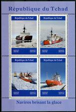 Chad 2019 MNH Icebreakers 4v M/S Boats Ships Nautical Stamps