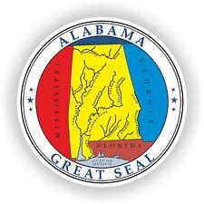 Estatal de Alabama Sello Adhesivo Para Parachoques Laptop Guitarra Skate Casco Truck Puerta