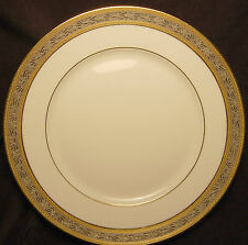A. Raynaud & Co. Pluton Dinner Plate White with Gold and Silver Incrustation