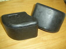 GENUINE LAND ROVER DEFENDER FRONT BUMPER END CAPS with fixing clips DPT100070