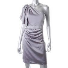 AQUA ~ NEW DESIGNER $208 GRAY STRETCH SATIN ONE SHOULDER DRESS ~ SZ 2 ~ NWT