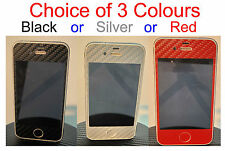 iPhone 4 Glossy 3D Carbon Fiber Full Body Skin sticker  * Choice of Colours *