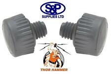 """THOR 710VF PAIR OF 32MM REPLACEMENT GREY """"SOFT"""" HAMMER FACES FOR 710 THOR HAMMER"""