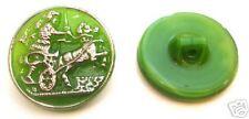 Glasknopf aus Gablonz/Böhmen, Grün Opalglas 22mm - k010