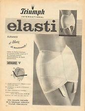 Publicité  Print AD 1961  Lingerie Triumph elasti soutien gorge slip gaine