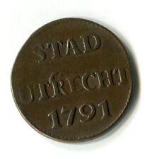 Münze Stadt Stad Utrecht 1791 Top  M_698