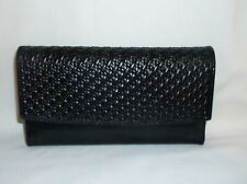 *NEW* OLD STOCK~ FOSSIL~ BLACK GENUINE LEATHER CLUTCH CHECKBOOK WALLET