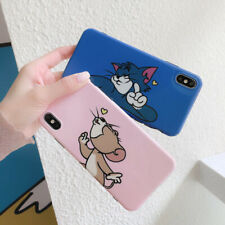 Cute Tom and Jerry Soft UNBreak Phone Case Cover For iPhone Max X XR 6s 7 8 Plus