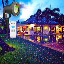 LED Laser light Projektor Baum Garten licht effect Party Sternenhimmel rot grün