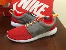 b6f0e495a4d6 Nike Roshe Run Men s Shoes Size 11.5 Gray Red Running Athletic 511881-608