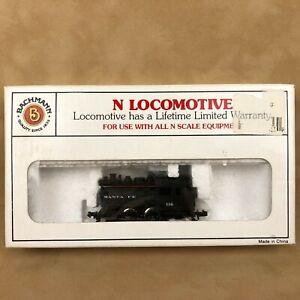 Bachmann N Scale Locomotive Santa Fe Dockside 0-4-0 Switcher 52652 Model Train