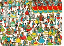 "Where's Wally? novelty postcard. ""Having A Ball In Gaye Paree"""