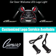 2x Camaro by Chevrolet Logo Car Door LED Light Projector for RS SS ZL1 Z28 LS LT