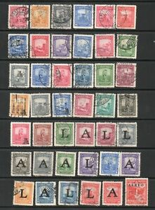 Columbia x 42 Used Stamps Some With 'A' and 'L' Overprints Detail As Scanned