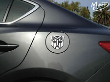 New 3D Silver Transformers Optimus Prime Decepticon Autobot Car Sticker