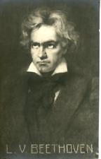 Ludwig van Beethoven Vintage carte photo, Ludwig van Beethoven (prononcé en alle