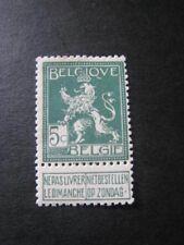Belgique timbre ancien vendu à 20%.COB 110*