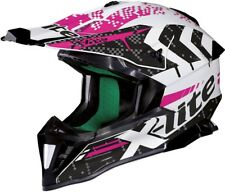 CASCO CROSS ENDURO MOTARD DONNA LADY X-LITE X-502 NAC-NAC 13 METAL WHITE TG S