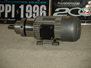 Bauser NDK9482 1/3 HP 180VDC 3000RPM  DC Field Wound Motor With 8.75:1 Gear-head