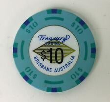 TREASURY CASINO Brisbane, Australia $10 Gaming CHIP - Older Style