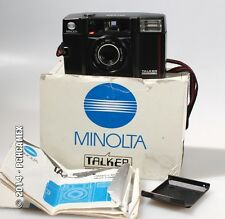 SET OF 3 POINT   SHOOT CAMERAS INCLUDING MINOLTA TALKER IN BOX AND ATLAS-RAND MA