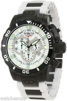 Invicta 1025 Corduba White Dial Polyurethane Chronograph Men's Watch